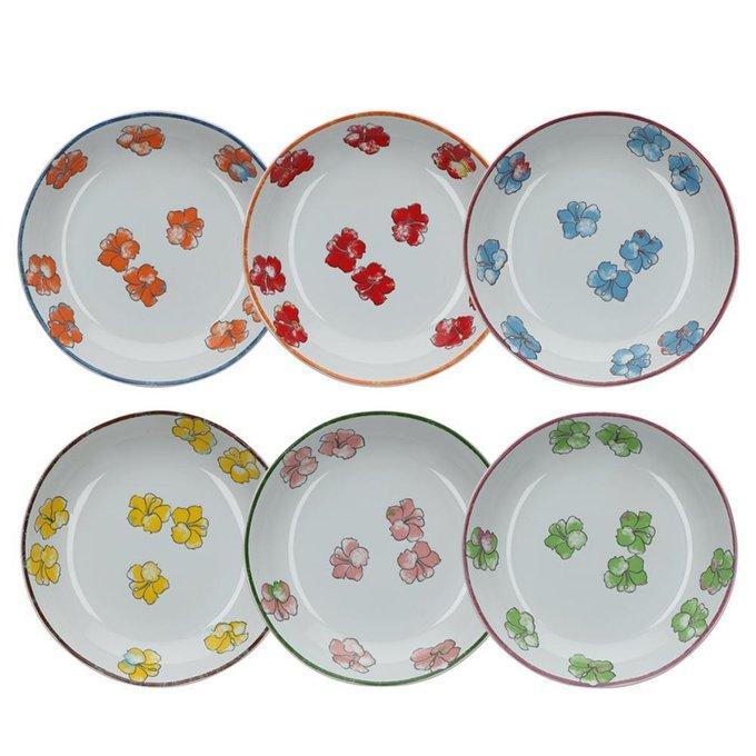 Набор из шести суповых глиняных тарелок Aloha