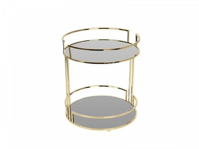 Поднос-столик Golden Glass из металла и стекла