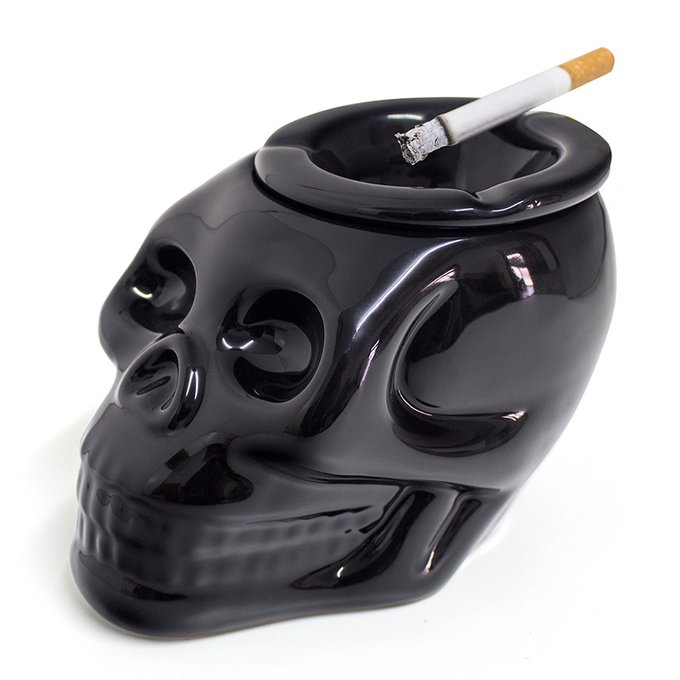 Пепельница керамическая Balvi skully черная