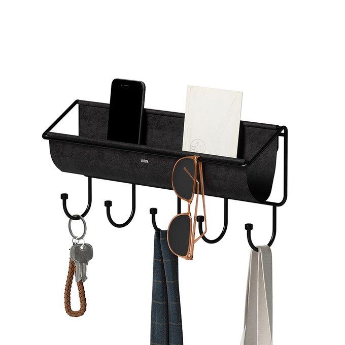 Полка-органайзер настенная Hammock черного цвета