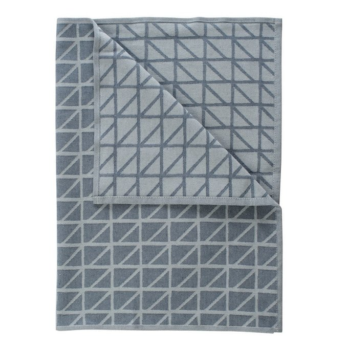 Кухонное полотенце Twist с принтом темно-синего цвета