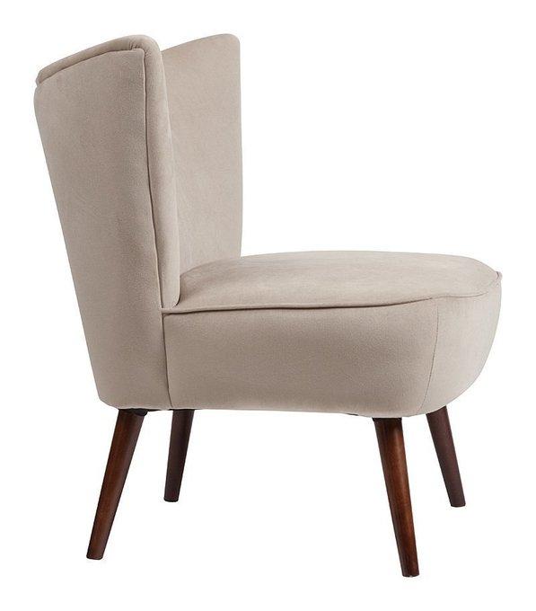 Кресло Vermont Chair Серо-бежевый Велюр
