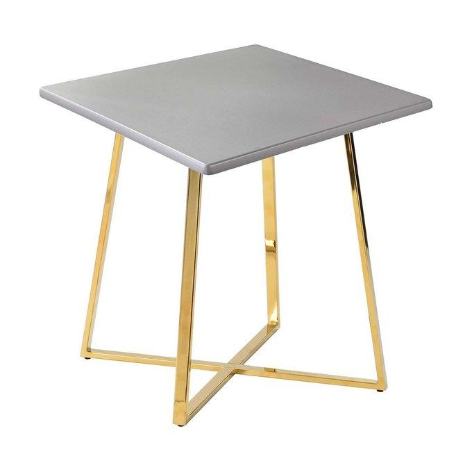 Обеденный стол Haku Gold со столешницей серебряного цвета