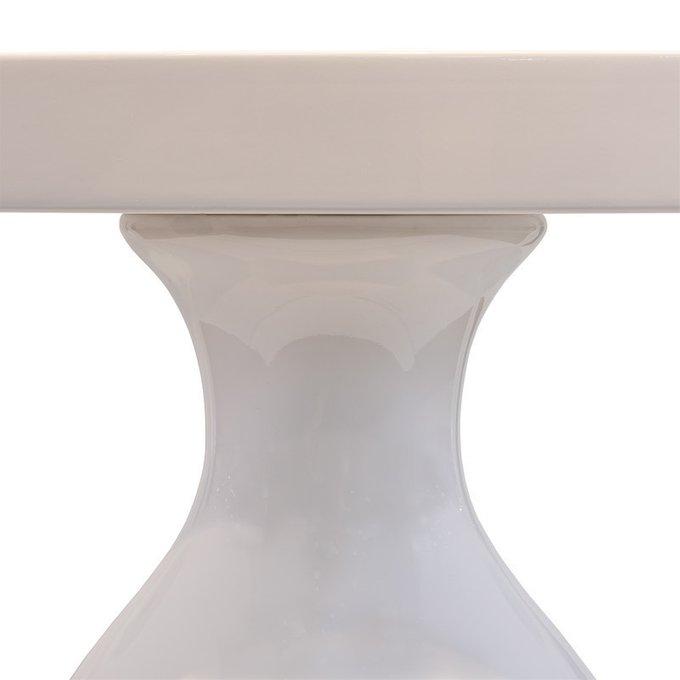 Обеденный стол FRATELLI BARRI PALERMO с отделкой белым блестящим лаком