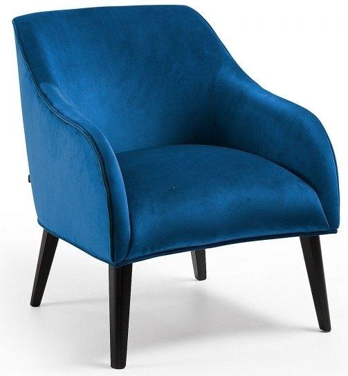 Кресло Lobby темно-синего цвета