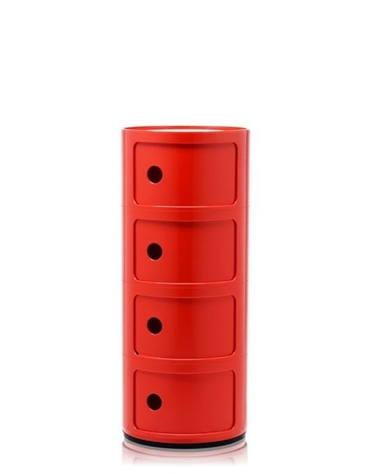 Комод Componibili красного цвета