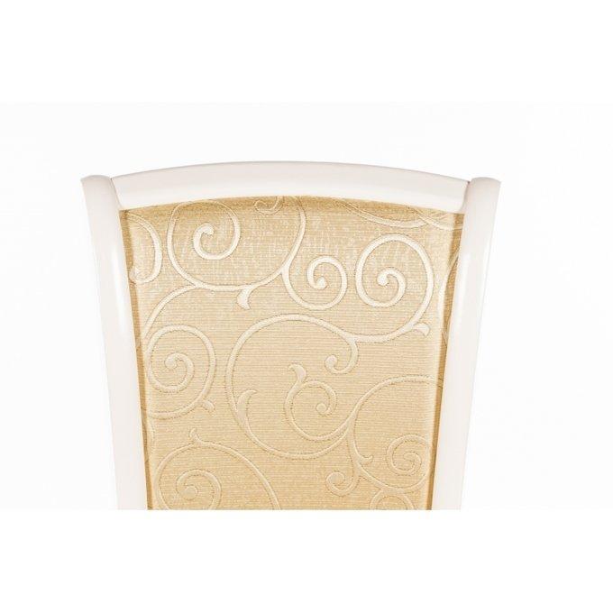 Стул Milano в обивке из ткани золотистого цвета