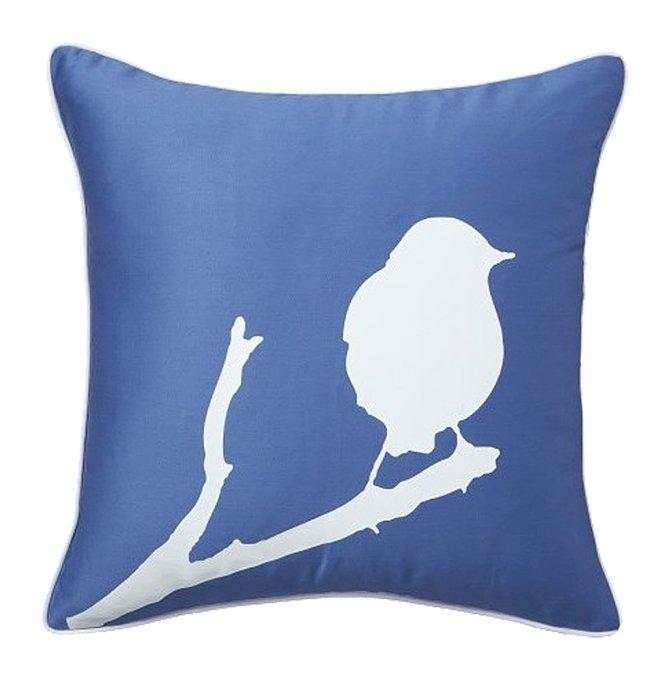 Подушка с принтом Lone Bird Diamond-Blue