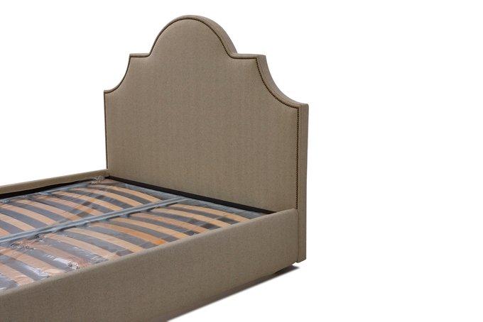 Кровать Фиби серо-коричневого цвета 140х200 с ящиком для хранения