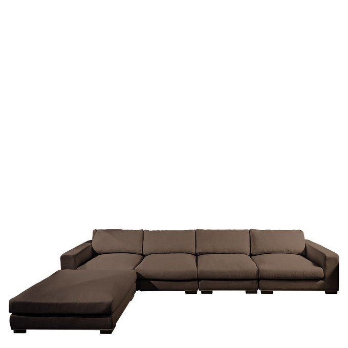 Диван Timothy Sofa коричневого цвета