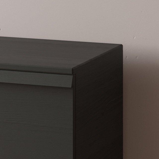 Комод Lina-1 100х50 с выкатными ящиками цвета орех