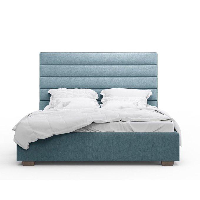 Кровать Джейси голубого цвета 200х200 с подъемным механизмом