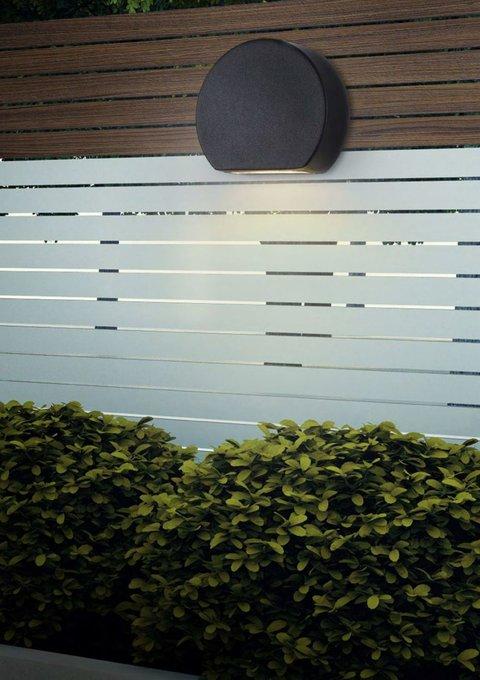 Уличный настенный светильник Madison Avenue черного цвета