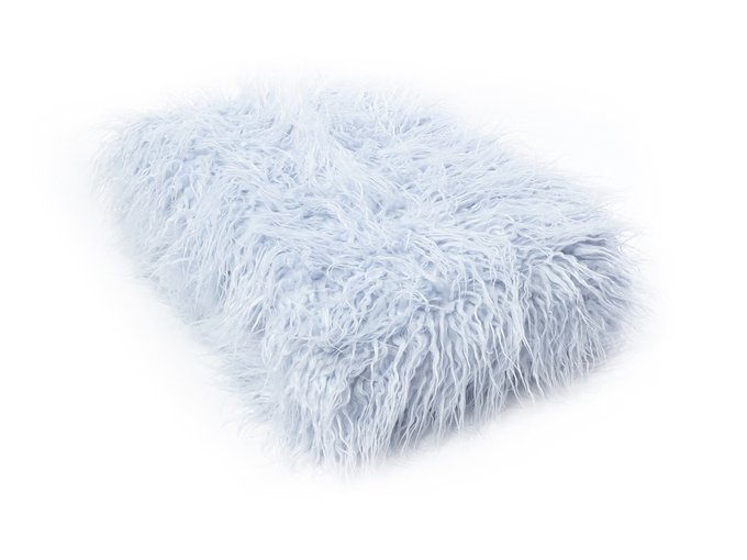 Плед Furry серо-голубого цвета 130х170