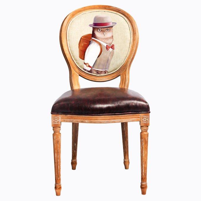 Стул Мистер Букля с сиденьем и спинкой из экокожи