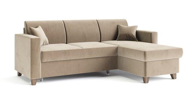 Угловой диван-кровать Эмилио бежевого цвета