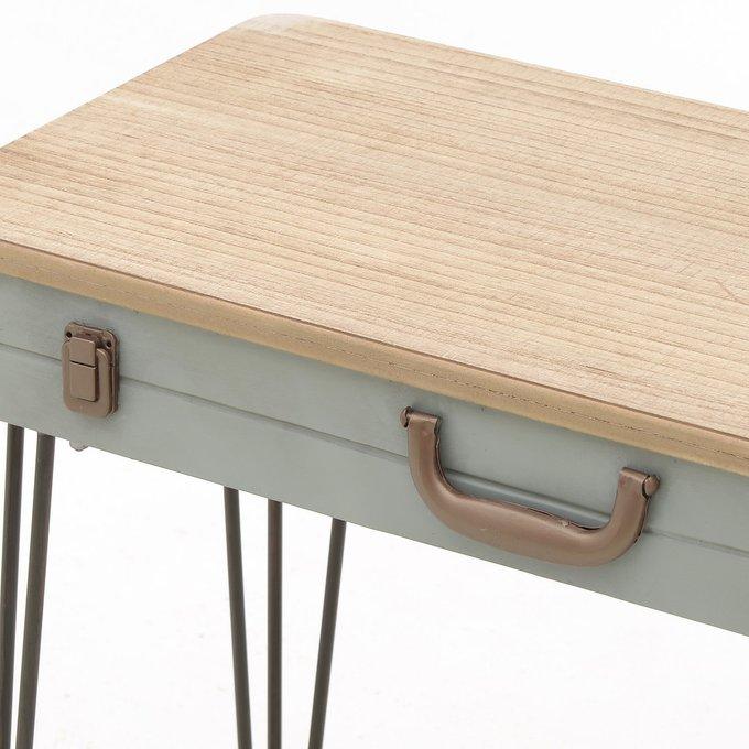 Консольный стол из металла и дерева