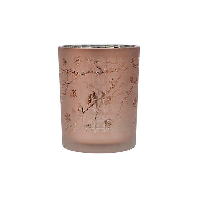 Подсвечник Lingcey розового цвета