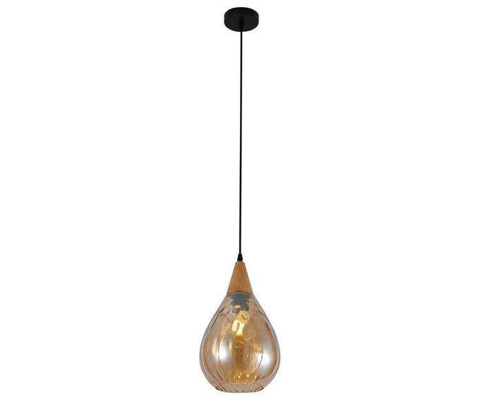 Подвесной светильник Телус с плафоном из стекла