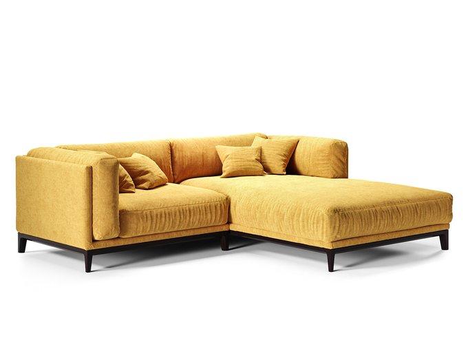 Угловой диван Case желтого цвета
