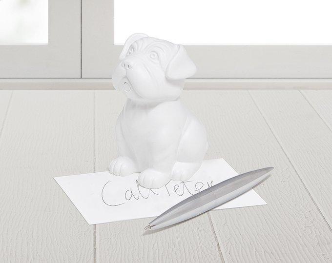 Пресс-папье и держатель для ручек Woof! белый из резины