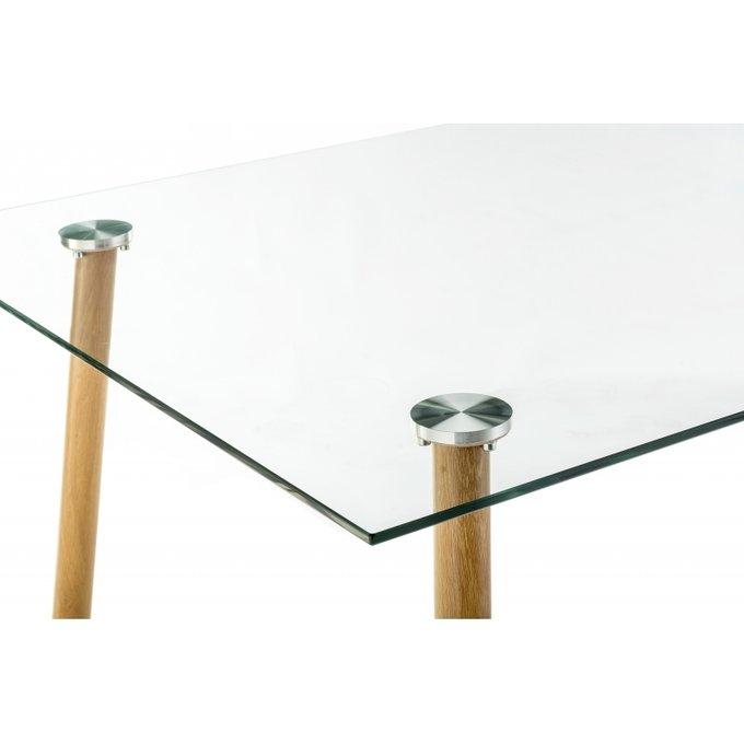 Обеденный стол Rober wood со стеклянной столешницей