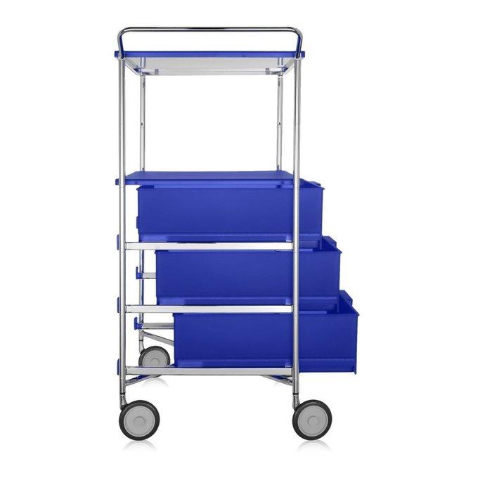Комод Mobil синего цвета на колесиках