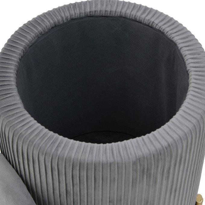 Пуф-бокс серого цвета