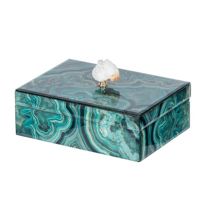 Шкатулка с украшением из натурального камня