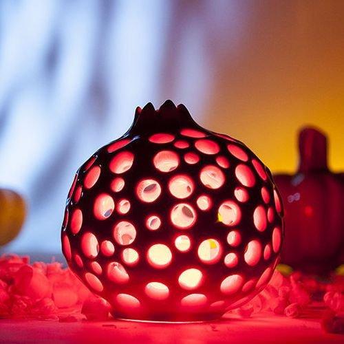 Подсвечник Garnet красного цвета