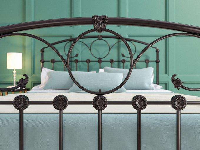 Кровать Розалин 180х200 черно-глянцевого цвета