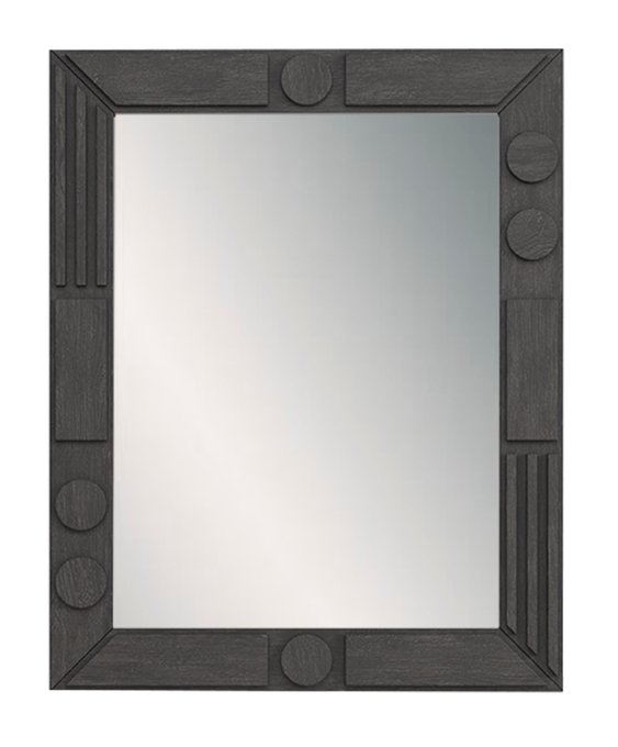 Зеркало в деревянной раме Келли черного цвета