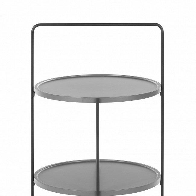 Стол из металла серого цвета