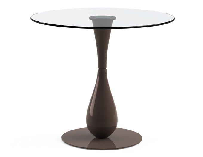 """Обеденный стол """"FLOS Choco"""" с круглой столешницей из закаленного стекла"""