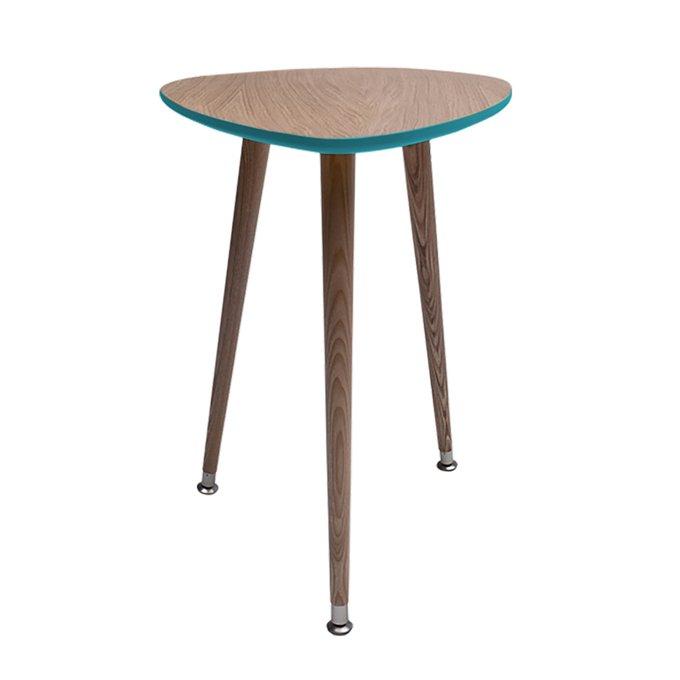 Приставной столик Капля с ножками из массива бука
