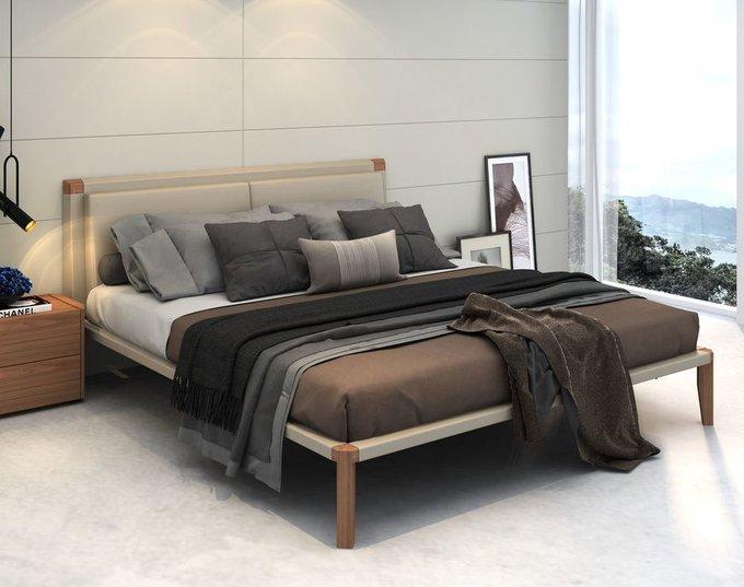 Кровать Avila в серой экокоже 180х200