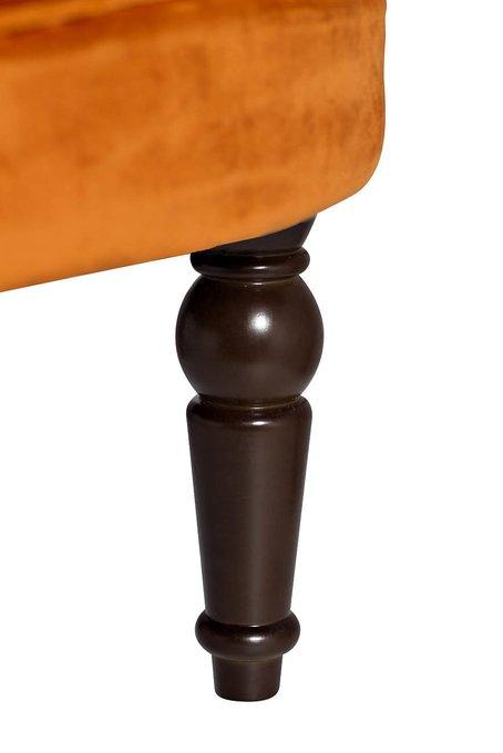 Кресло низкое терракотового цвета
