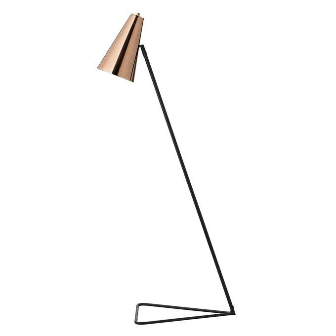 Напольная лампа Cooper с плафоном медного цвета