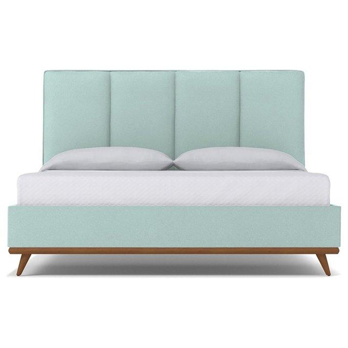 Кровать Carter Sky голубого цвета 180х200