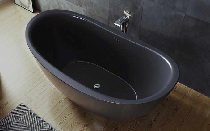 Каменная Ванна Purescape Черная