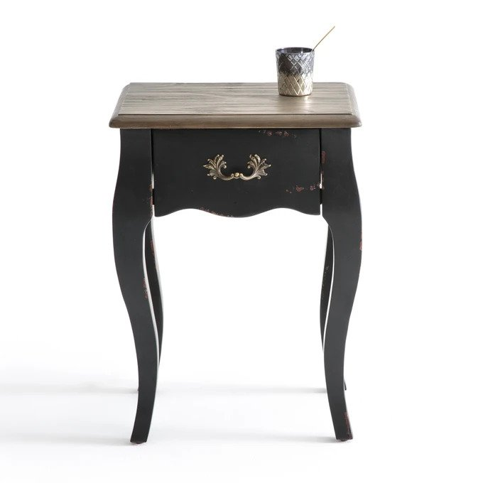 Прикроватный столик Janel черного цвета