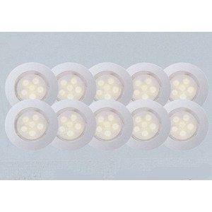 Комплект из 10 встраиваемых светильников Cosa