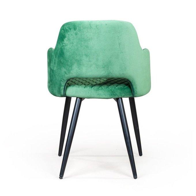 Стул с подлокотниками William нефритово-зеленого цвета