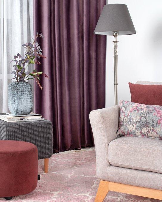 Штора велюр Violet фиолетового цвета