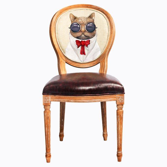 Стул Мистер Базилио с сиденьем и спинкой из экокожи