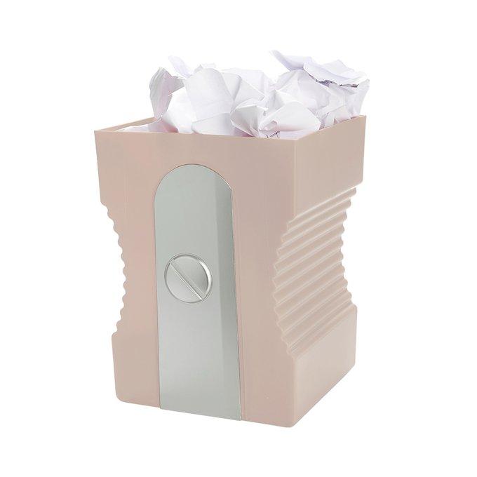 Корзина для бумаг Sharpener светло-розового цвета