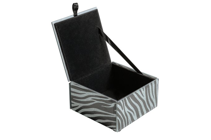 Шкатулка Зебра черно-серого цвета