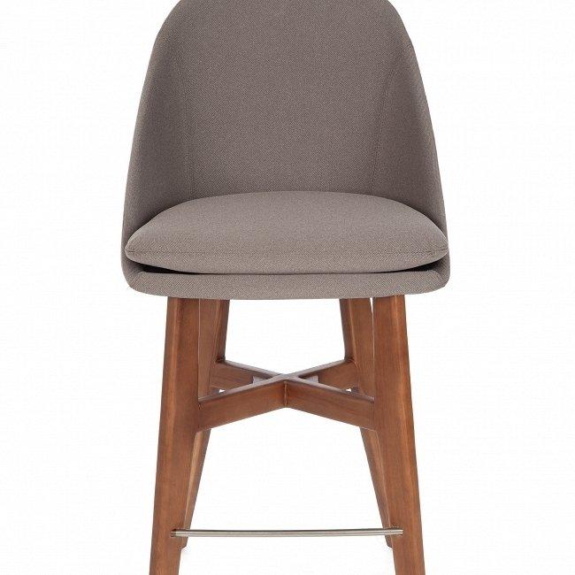 Полубарный стул November темно-серого цвета
