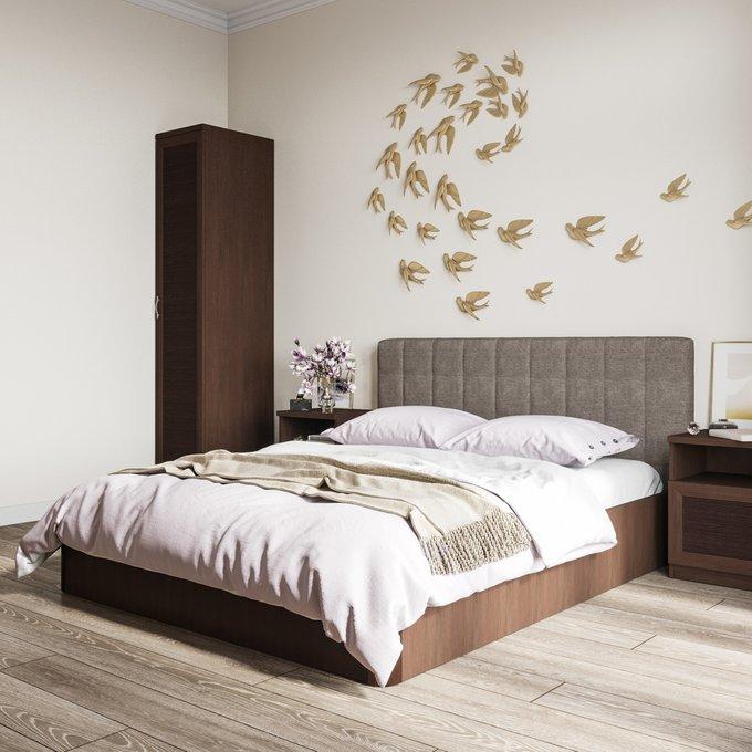 Кровать Магна 180х200 с бежевым изголовьем и подъемным механизмом