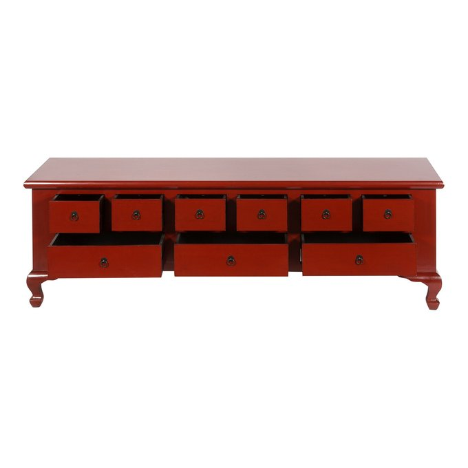 Комод с ящиками красного цвета